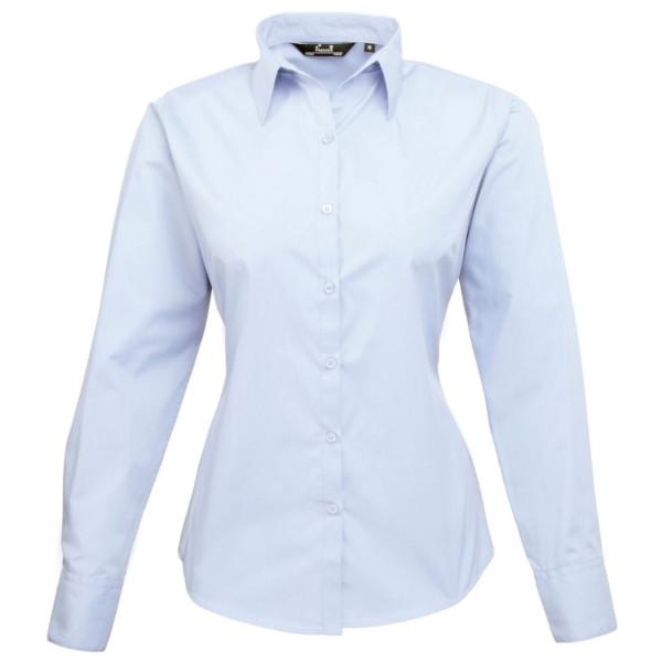 Ladies Blue Long Sleeve Blouse 103
