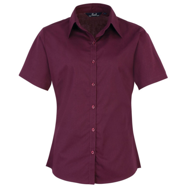 PR302 LadiesShirtLoughboroughCollegeAubergine