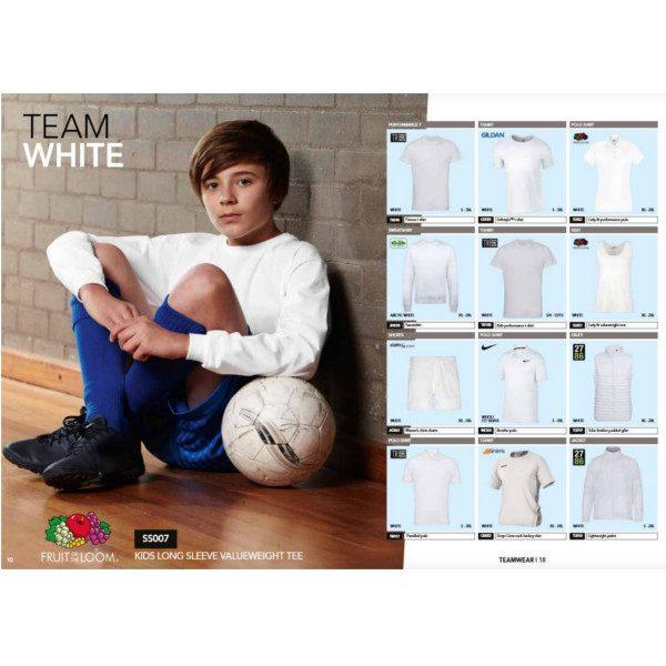 Team white colours
